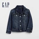 Gap男幼童 時尚水洗口袋翻領牛仔外套 539476-水洗藍
