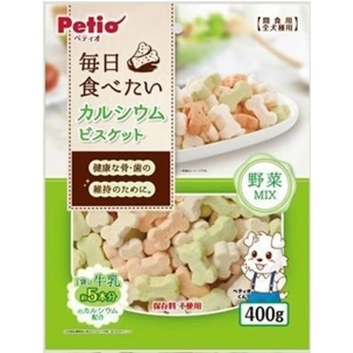 *KING WANG*日本PETIO《每日必備營養高鈣餅-牛奶風味│野菜綜合》400G/包 狗零食 餅乾