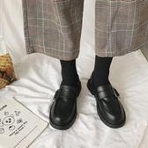 小皮鞋女復古英倫風新款潮鞋秋冬季加絨韓版百搭平底   韓流時裳