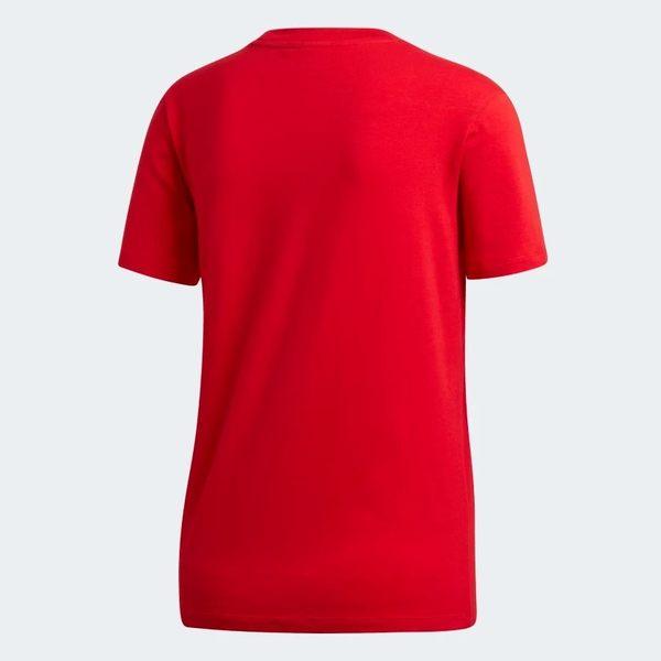 ADIDAS ORIGINALS TREFOIL 女裝 短袖 休閒 慢跑 棉質 經典 基本款 舒適 紅【運動世界】ED7493