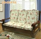 單人座實木沙發墊防滑加厚海綿紅木沙發坐墊帶靠背連體木椅墊