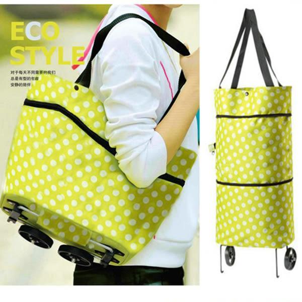 牛津布折疊兩用拖輪包 拖輪包 購物袋 購物車 行李包 行李箱【SA0854】Loxin