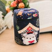 存錢筒/Kiro貓‧日系貓咪拼布包 雪納瑞 拼布存錢筒【222623】