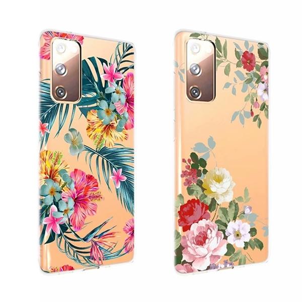 三星 Note20 Ultra Note10 Lite Note10+ 花卉透底殼 手機殼 全包邊 彩繪 軟殼 保護殼