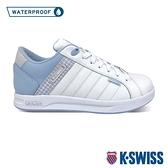【超取】K-SWISS Lundahl WP格紋防水時尚運動鞋-女-白/粉藍
