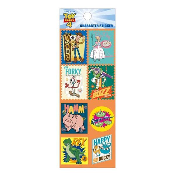 Small Planet 日本製透明造型貼紙 手帳貼 裝飾貼 迪士尼 玩具總動員4 郵票 橘_DP23317