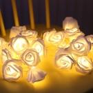 【3米20燈】玫瑰花串燈 串燈 玫瑰造型 花串 浪漫裝飾 LED燈 燈飾 布置 裝飾 台灣現貨