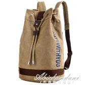 帆布水桶後背包籃球包戶外運動休閒大容量背包旅行包學生書包黛尼時尚精品 黛尼時尚精品
