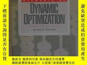 二手書博民逛書店Elements罕見Of Dynamic OptimizationY255562 Alpha C. Chian