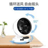 小型電風扇空氣循環扇渦輪對流換氣靜音搖頭桌面風扇台式家用 韓慕精品 YTL