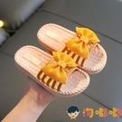 女童拖鞋夏外穿可愛蝴蝶結兒童涼拖夏季家用防滑軟底【淘嘟嘟】