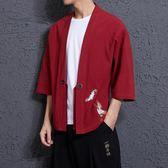 防曬衫 中國風外套男薄款亞麻防曬衣夏 BF2076『寶貝兒童裝』