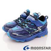 【MOONSTAR】日本月星競速童鞋-閃電競速運動款-7445藍(19cm-24.5cm)