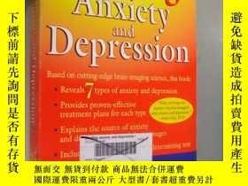 二手書博民逛書店Healing罕見Anxiety and Depression
