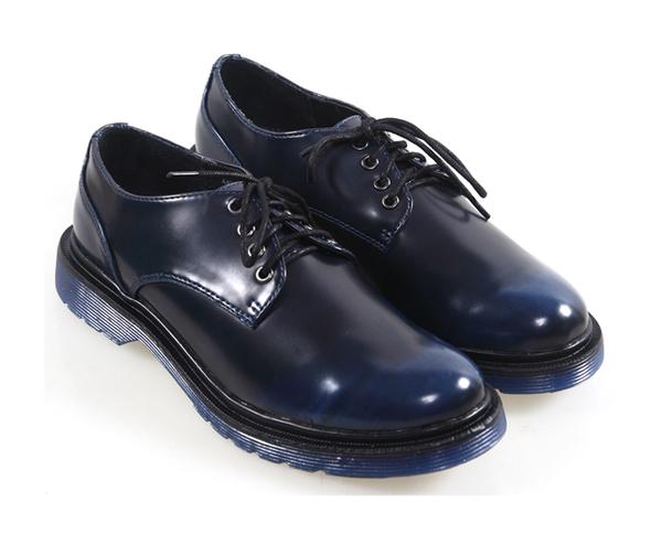 復古英倫擦色短筒馬丁靴  厚底馬丁靴  龐克鞋 中性風  真皮 金屬扣 4孔 mo.oh (歐美鞋款)