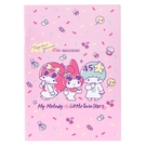 Sanrio 美樂蒂&KIKI LALA 45週年系列 平裝筆記本 粉
