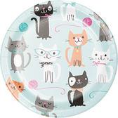 7吋圓盤8入-貓咪派對