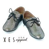 XES 休閒鞋 女鞋 豆豆減壓大底 EASY Q  閃耀銀