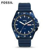 FOSSIL Sport 54藍色橡膠手錶 男 FS5260