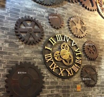 [協貿國際]   直徑20cm齒輪壁掛咖啡廳裝飾品挂件牆飾  (1入)