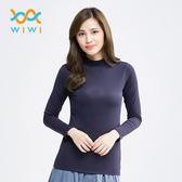 【WIWI】MIT溫灸刷毛立領發熱衣(湛海藍 女S-2XL)