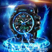 戶外運動青少年大錶盤防水兒童電子錶男學生 雙顯LED中學生手錶男 韓語空間