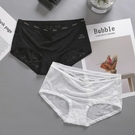 高腰內褲女蕾絲一片式冰絲透明性感棉質襠三角褲【聚寶屋】