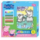 《 Peppa Pig 》粉紅豬小妹著色拼圖盒╭★ JOYBUS玩具百貨
