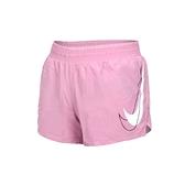 NIKE 女運動短褲(Dri-FIT 三分褲 慢跑 路跑 平織 免運 ≡排汗專家≡