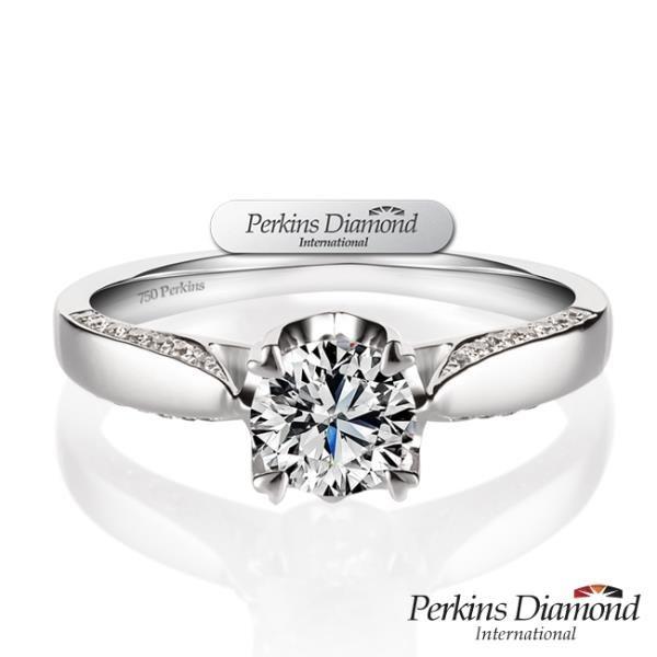 【南紡購物中心】GIA PERKINS 伯金仕 夏綠蒂系列 鑽石戒指