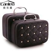 大容量化妝品韓國收納包旅行可愛手提箱便攜大小號簡約迷你化妝包 晴天時尚館