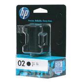 [奇奇文具]【HP 墨水匣】HP C8721WA (C8721)/NO.02 原廠黑色墨水匣