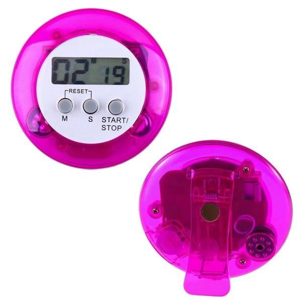 彩色圓形電子計時器廚房定時器提醒器正數倒數99分59秒顏色隨機出貨【WA150】《約翰家庭百貨