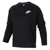 Nike AS W NSW AV15 CRW [853946-010] 女 休閒 長袖 上衣 純棉 舒適 大學T 黑