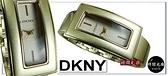 【時間光廊】DKNY 長方形 金色 網狀錶面 鋼帶表款 女錶 全新原廠公司貨 NY4352