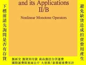 二手書博民逛書店Nonlinear罕見Functional Analysis And Its ApplicationsY256