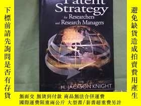 二手書博民逛書店Patent罕見Strategy for Researchers