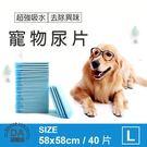 【居家任選3件88折】裸包 寵物尿片 40片 58*58cm 寵物 尿布 狗用 尿墊 除臭 吸水 棉質柔軟(V50-1545)