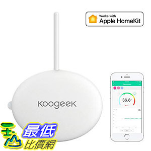 [107美國直購] Koogeek Smart Baby Thermometer Wireless Monitoring for iOS and Android, Suitable
