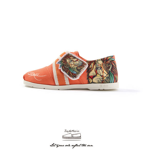 【Joy&Mario】J. Pierce設計師款魔鬼氈個性平底童鞋 - 77158C SAFFRON