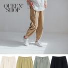 Queen Shop【04101410】棉麻鬆緊抓皺縮口長褲 四色售 S/M/L/XL*現+預*