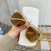墨鏡超大框墨鏡女時尚韓繫清新純色復古方框顯臉小情侶旅遊太陽鏡男潮 阿卡娜