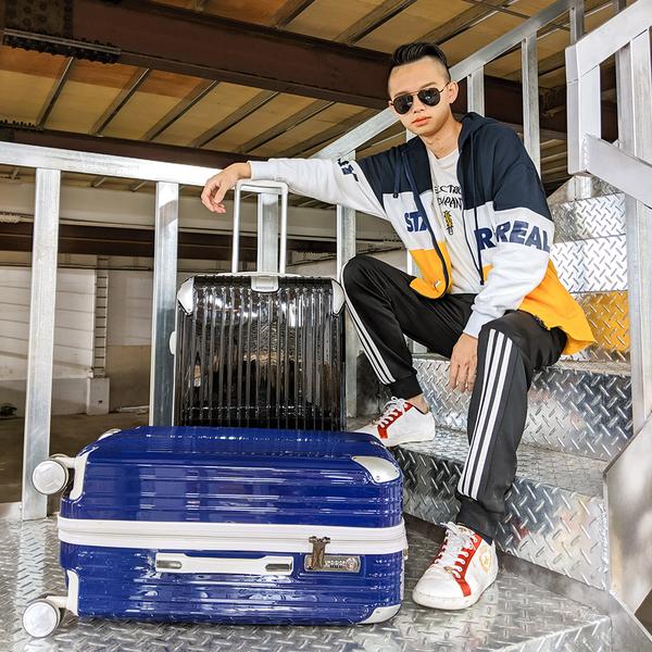 24吋 行李箱 旅行箱 PC金屬護角耐撞擊硬殼 奧莉薇閣 箱見恨晚II系列 (加贈防塵套)