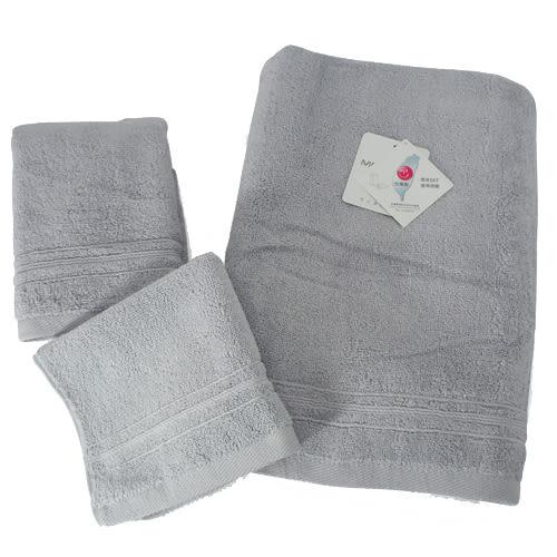 MORINO 飯店級素色緞條浴巾-灰【愛買】