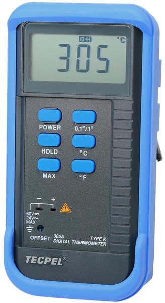 泰菱電子◆單一輸入數位溫度計+ K型熱電藕DTM-305A TECPEL