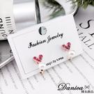 現貨不用等 韓國少女心氣質甜美百搭小愛心珍珠水鑽夾式耳環 S93279 批發價 Danica 韓系飾品