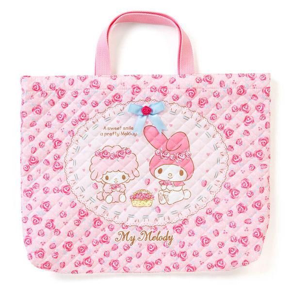 Sanrio 美樂蒂日本製布面提袋/補習提袋(玫瑰花園)★funbox生活用品★ 054721N