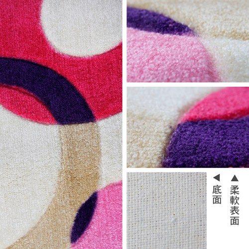 【樂活居家】絲路 圓形地墊-粉紅色 (43*62cm)