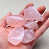 天然粉水晶碎石擺件白水晶原石消磁凈化水晶石魚缸裝飾彩石頭礦料 HOME 新品