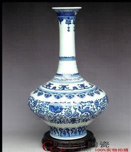 景德鎮 陶瓷器 花瓶
